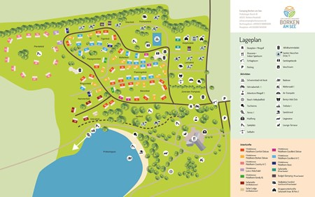 Map camping Borken am See